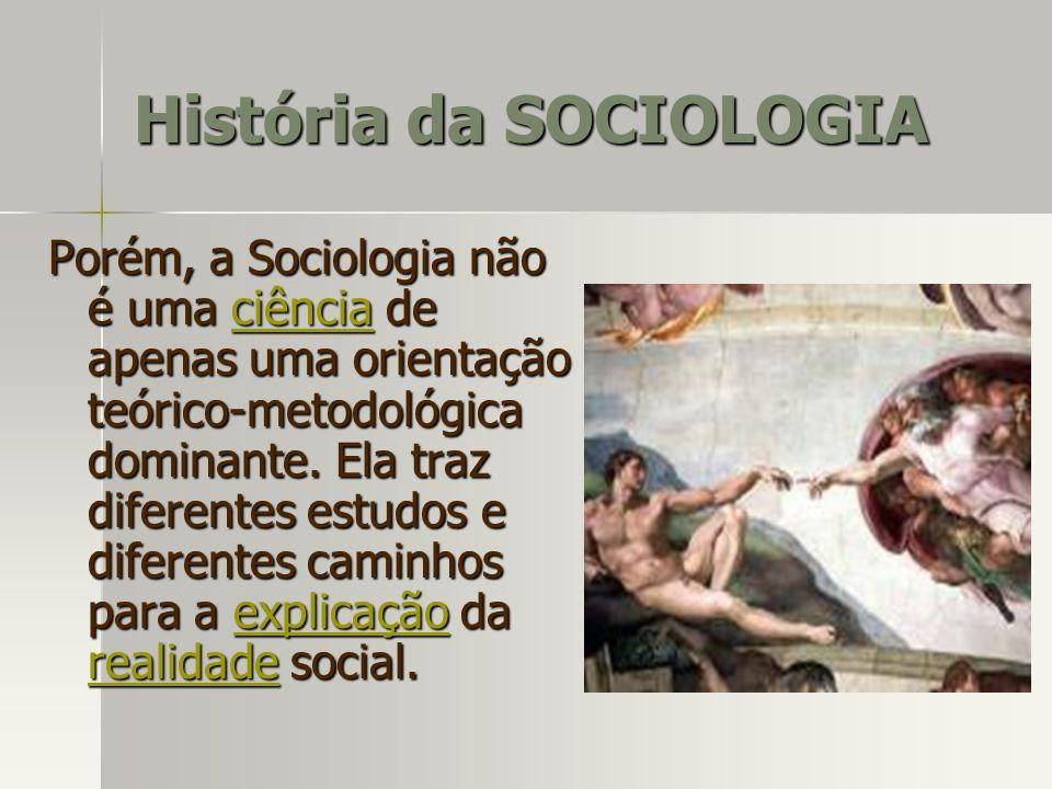 Porém, a Sociologia não é uma ciência de apenas uma orientação teórico-metodológica dominante. Ela traz diferentes estudos e diferentes caminhos para