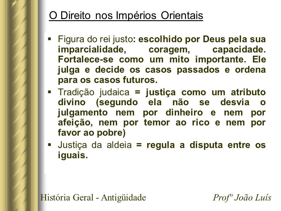 História Geral - Antigüidade Profº João Luís Roma Cognitio extra ordinem (terceira fase do direito romano) Desaparece a divisão de tarefas entre pretor e juiz.