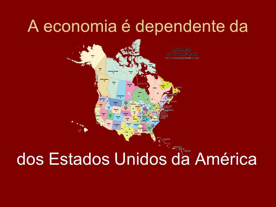 A economia é dependente da dos Estados Unidos da América