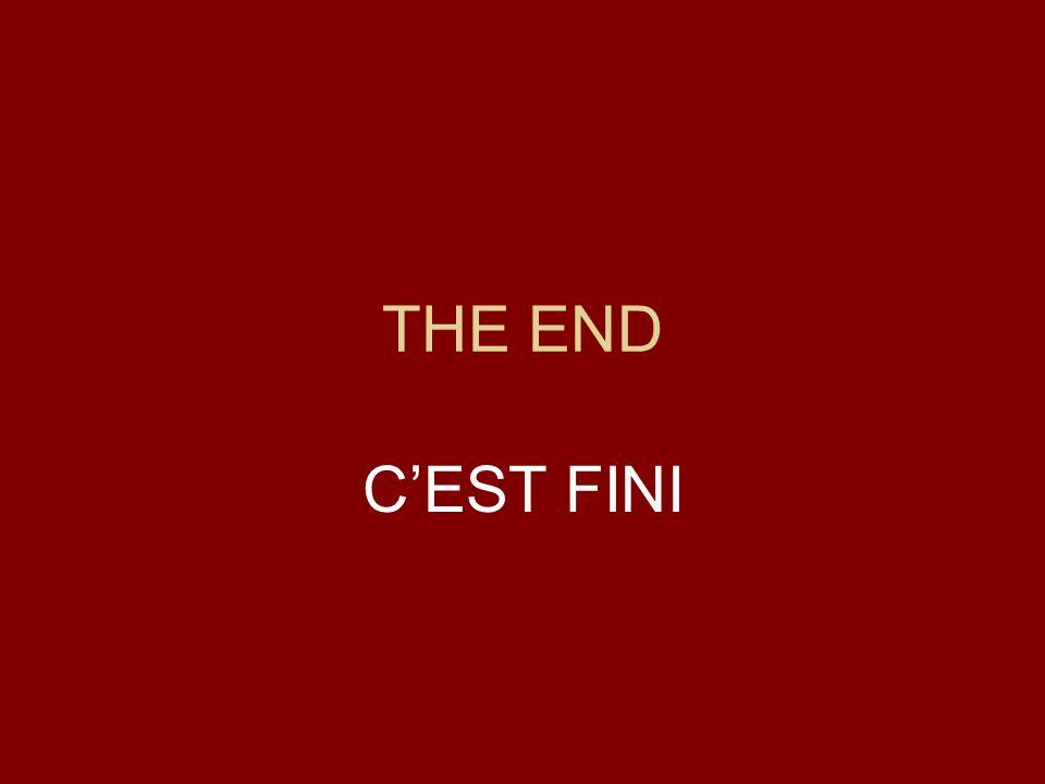 THE END CEST FINI