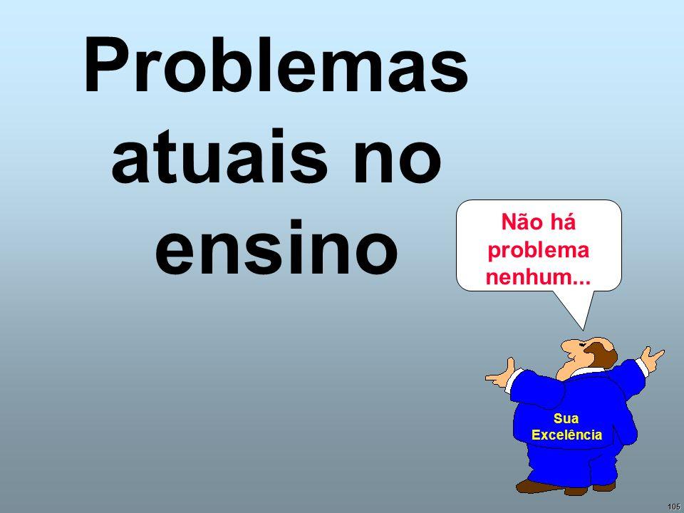 105 Problemas atuais no ensino Não há problema nenhum... Sua Excelência
