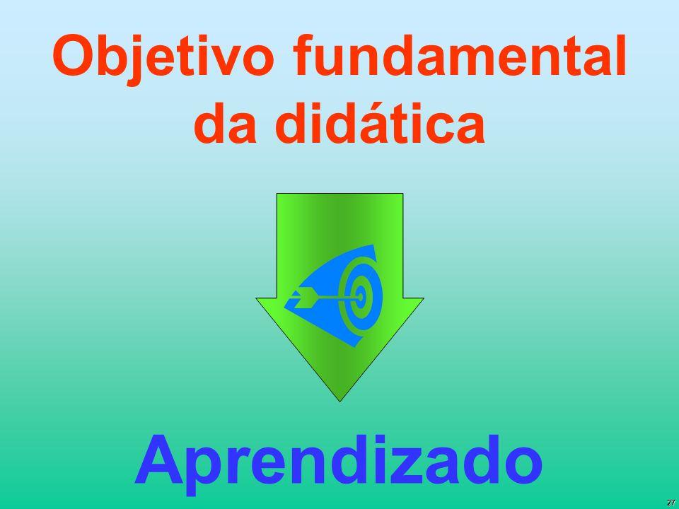 27 Objetivo fundamental da didática Aprendizado