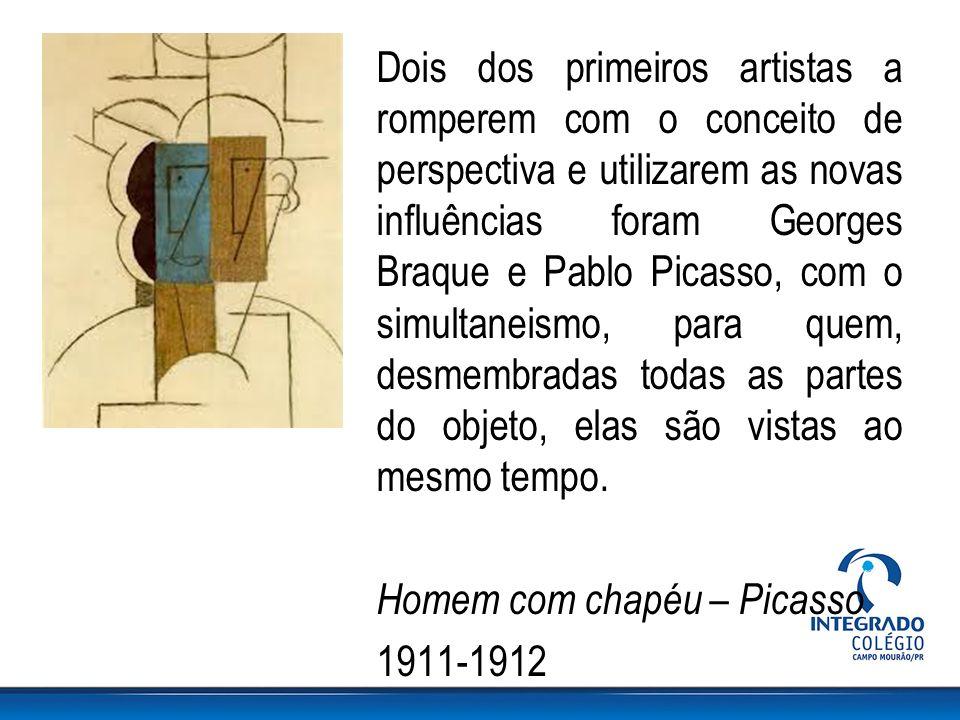 Dois dos primeiros artistas a romperem com o conceito de perspectiva e utilizarem as novas influências foram Georges Braque e Pablo Picasso, com o simultaneismo, para quem, desmembradas todas as partes do objeto, elas são vistas ao mesmo tempo.