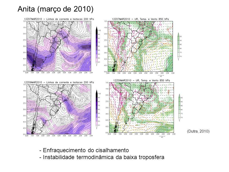 Anita (março de 2010) (Dutra, 2010) - Enfraquecimento do cisalhamento - Instabilidade termodinâmica da baixa troposfera