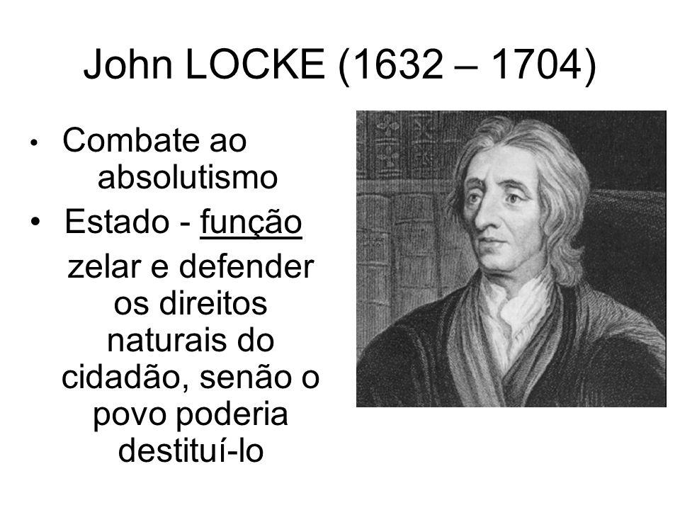 MONTESQUIEU (1689 – 1755) só o poder limita o poder Divisão dos 3 poderes e autonomia, o que garantiria o cumprimento das leis vigentes, e a liberdade dos cidadãos