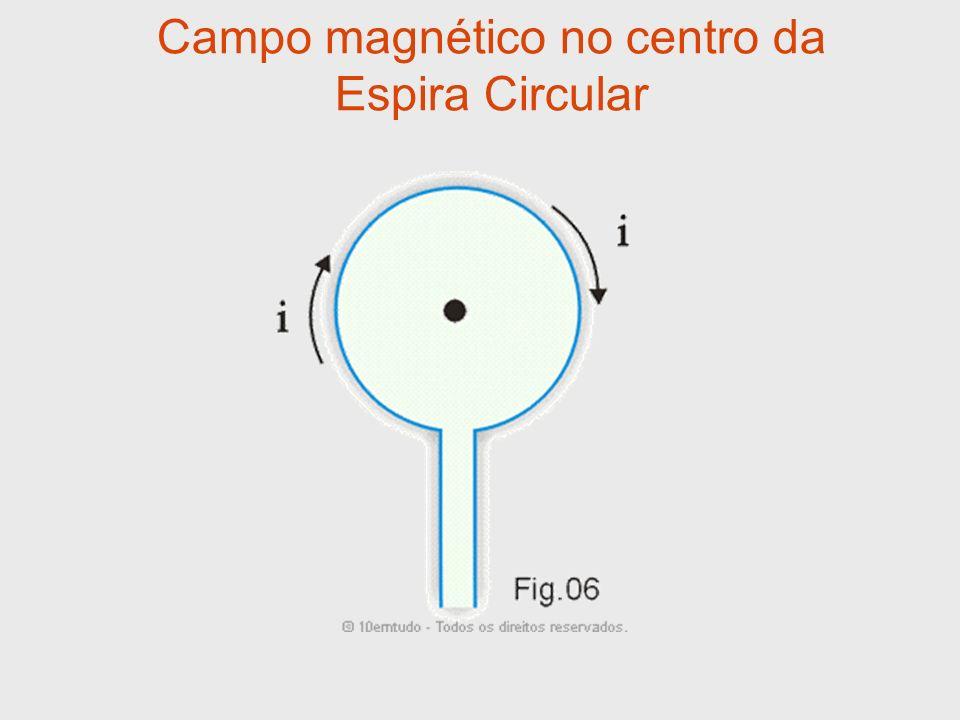 Campo magnético no centro da Espira Circular