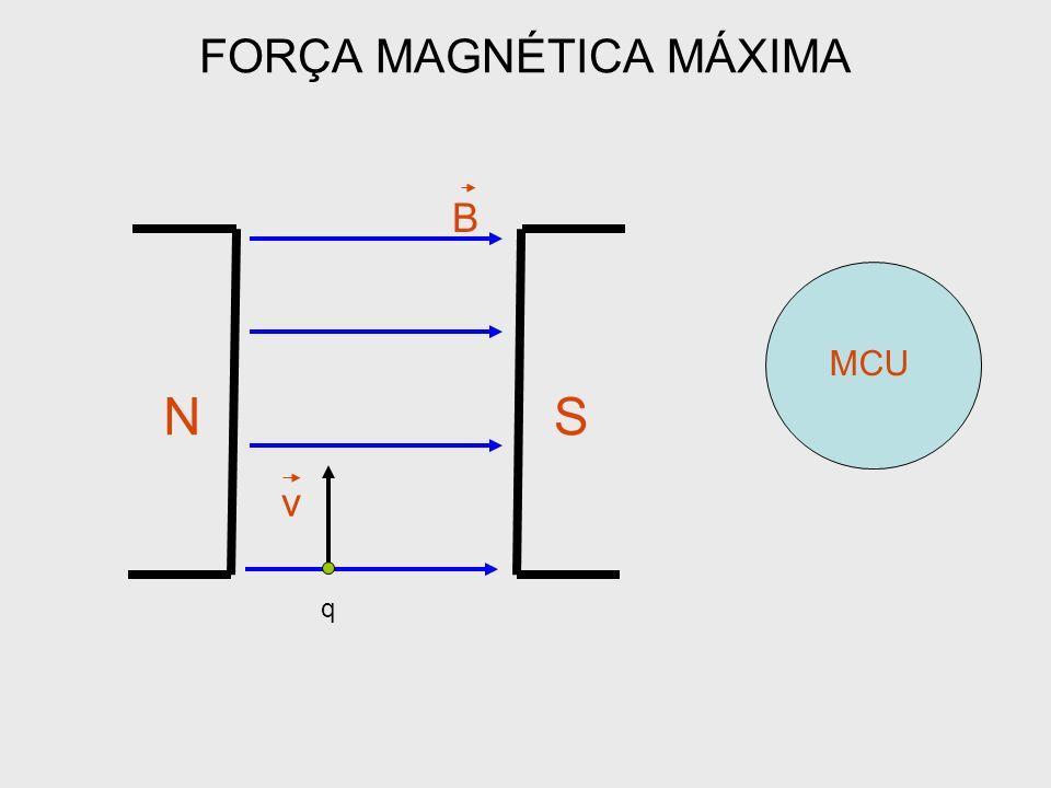 FORÇA MAGNÉTICA MÁXIMA NS B q v MCU