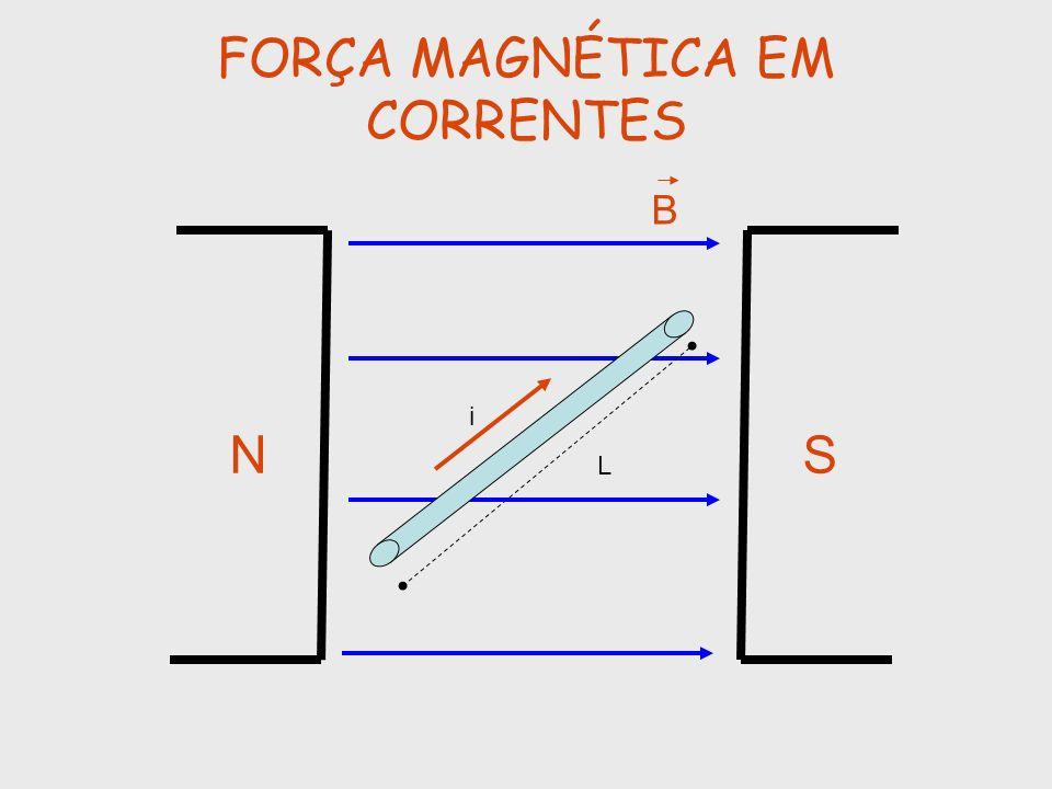 FORÇA MAGNÉTICA EM CORRENTES NS B i L