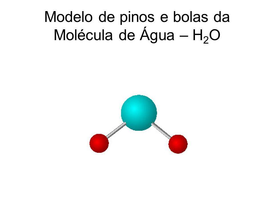 Modelo de pinos e bolas da Molécula de Água – H 2 O