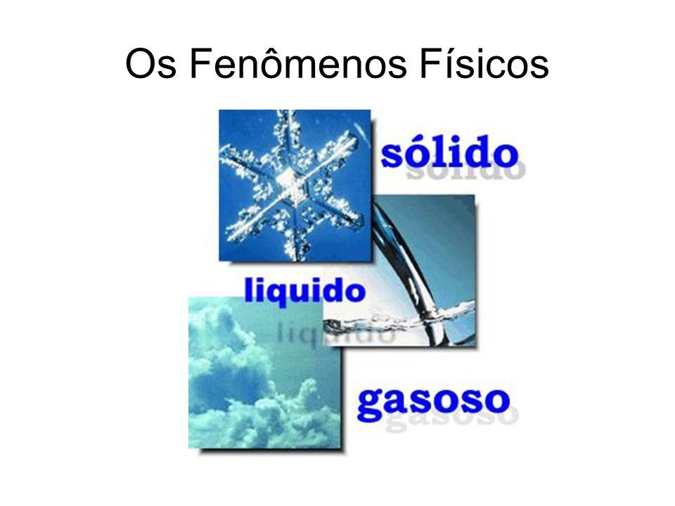 Fenômenos Químicos São aqueles que ocorrem com o desaparecimento de algumas substâncias e a formação de outras.