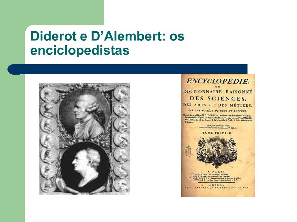 Diderot e DAlembert: os enciclopedistas