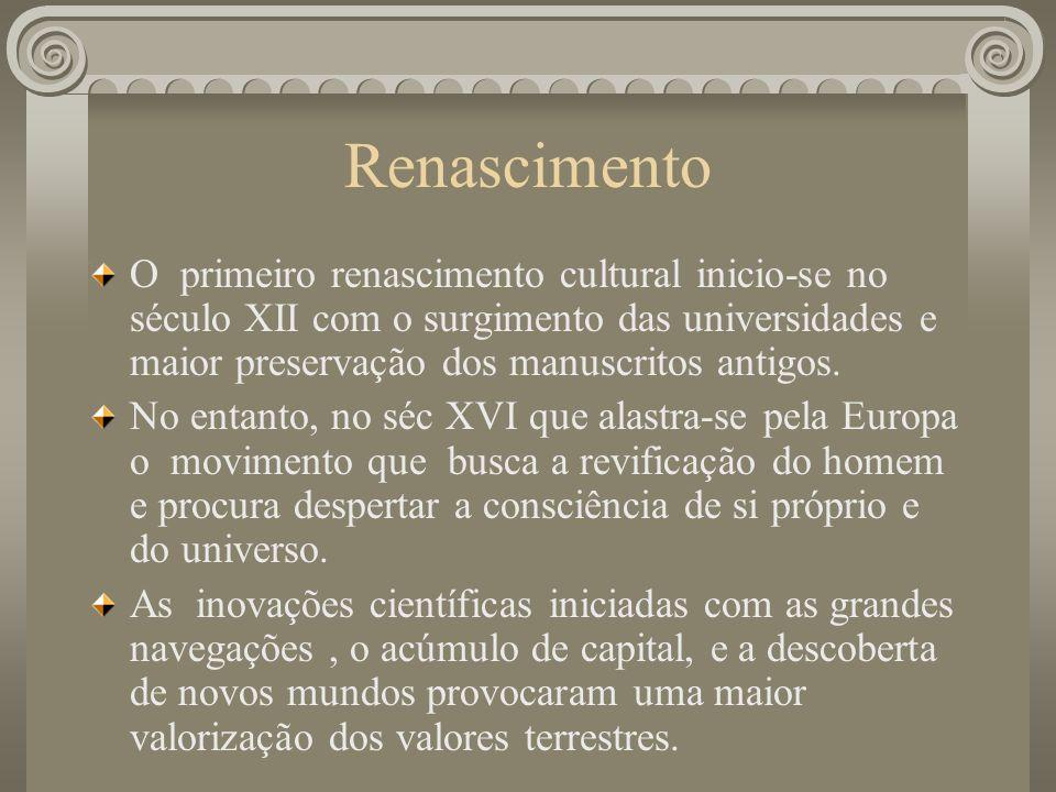 Renascimento – Racionalismo x Temas Religiosos