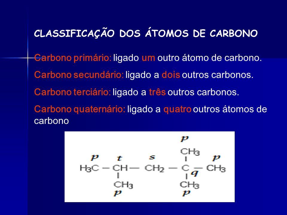 CLASSIFICAÇÃO DAS CADEIAS CARBÔNICAS Aberta ou Acíclica ou Alifática