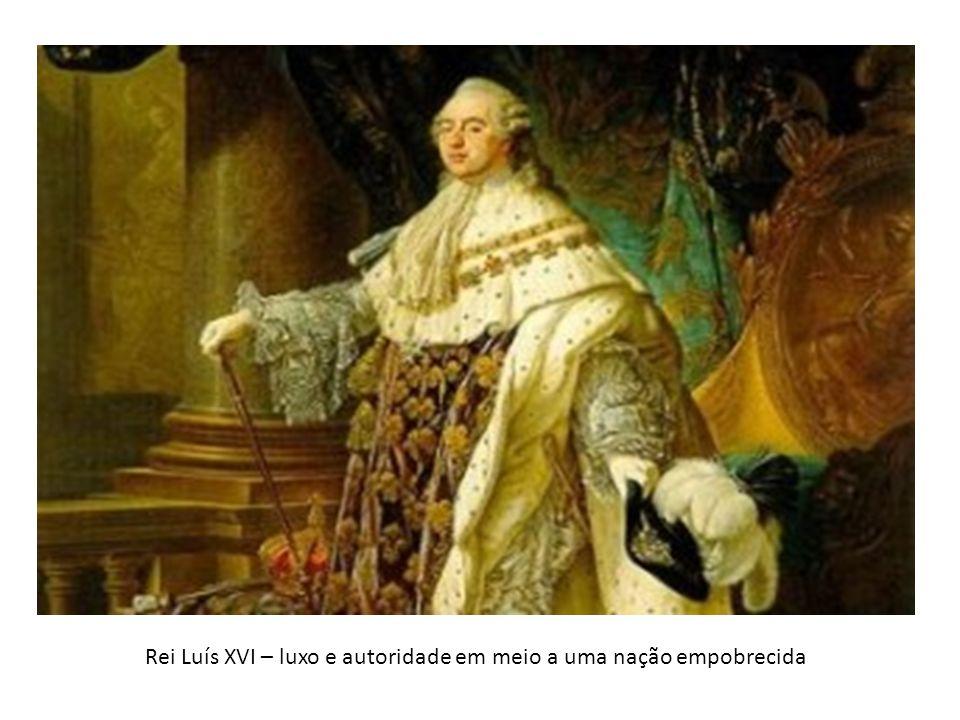 Rei Luís XVI – luxo e autoridade em meio a uma nação empobrecida