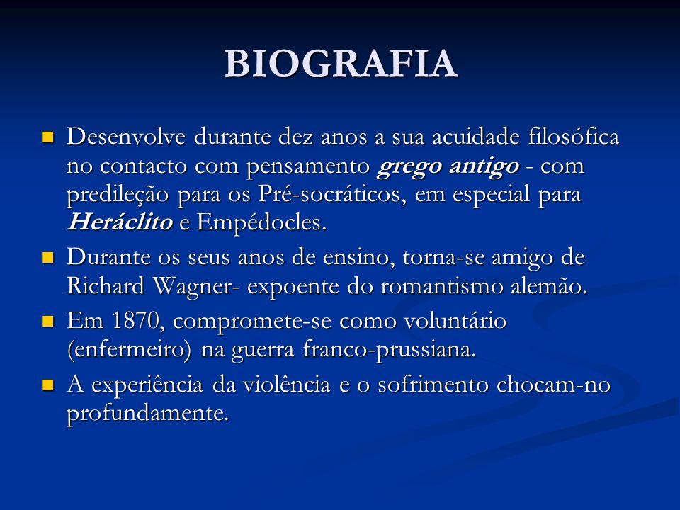 BIOGRAFIA Desenvolve durante dez anos a sua acuidade filosófica no contacto com pensamento grego antigo - com predileção para os Pré-socráticos, em es