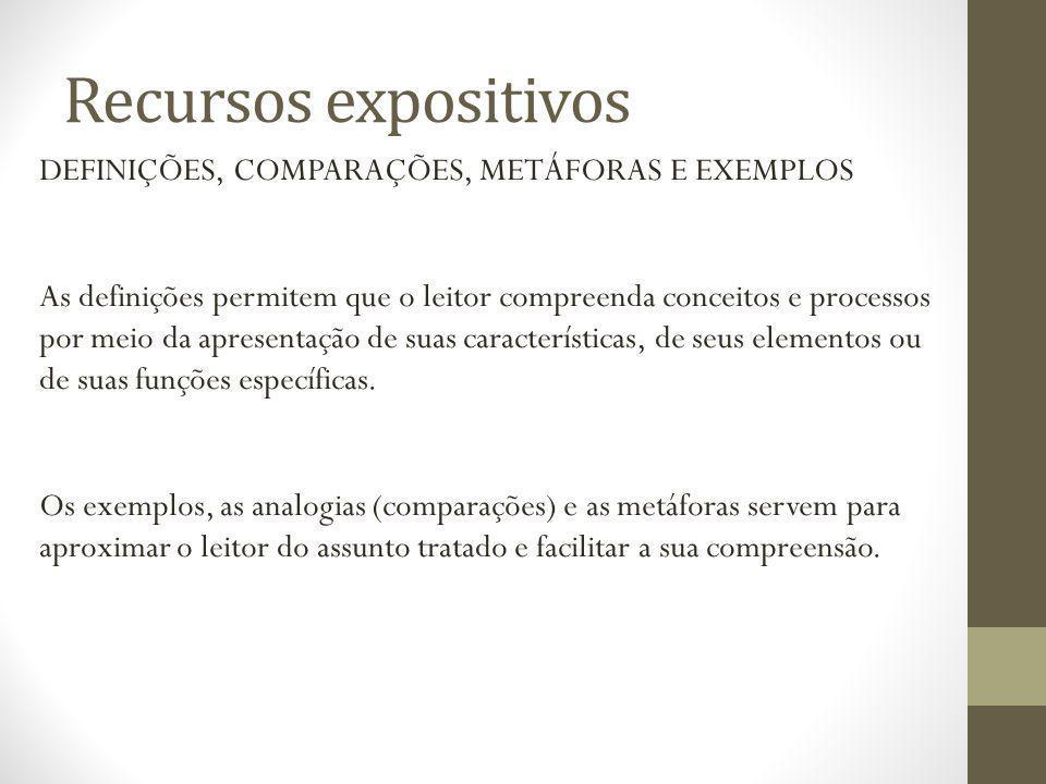 Recursos expositivos A MODALIZAÇÃO: Modalização diz respeito à expressão das intenções e pontos de vista do enunciador.