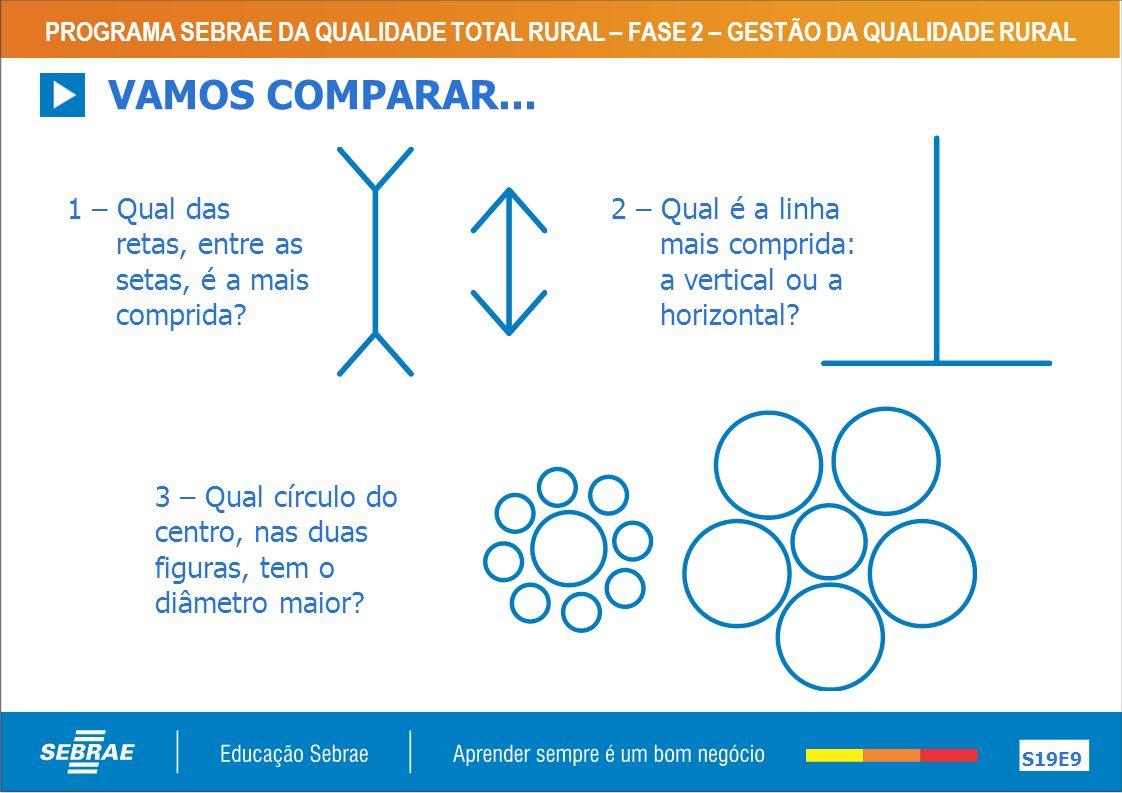 PROGRAMA SEBRAE DA QUALIDADE TOTAL RURAL – FASE 2 – GESTÃO DA QUALIDADE RURAL S19E9 VAMOS COMPARAR...