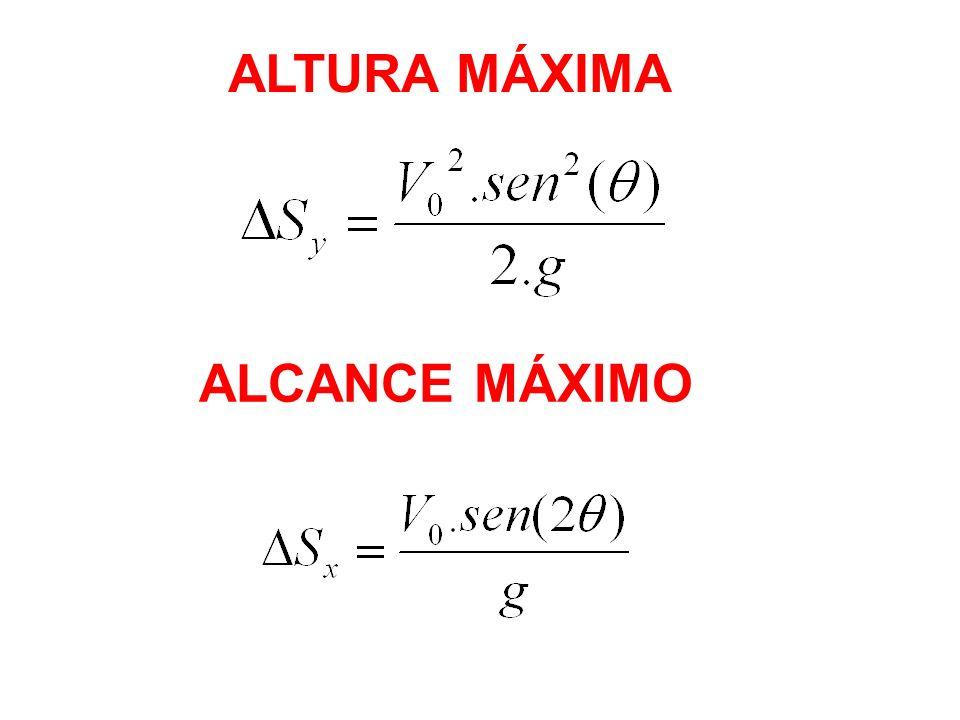 ALTURA MÁXIMA ALCANCE MÁXIMO