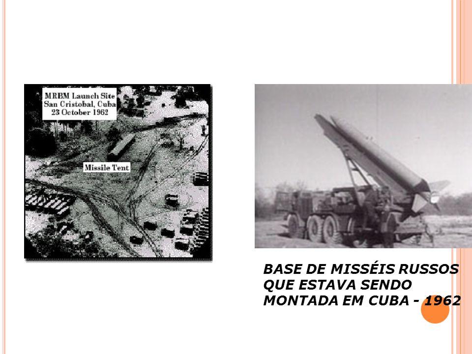 BASE DE MISSÉIS RUSSOS QUE ESTAVA SENDO MONTADA EM CUBA - 1962