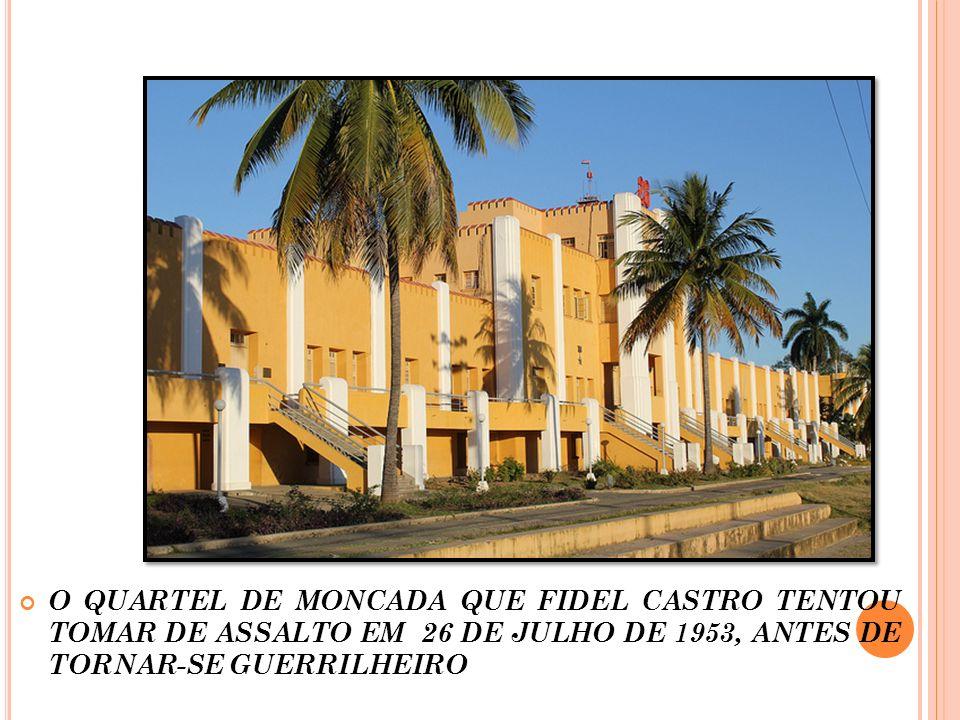 A REVOLUÇÃO: Entrada pelo litoral sul da ilha, elaboram guerrilhas rurais buscando apoio dos camponeses, 1956/1958.