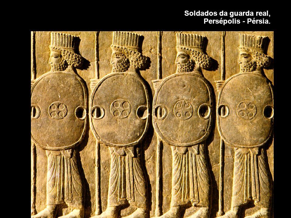 Soldados da guarda real, Persépolis - Pérsia.