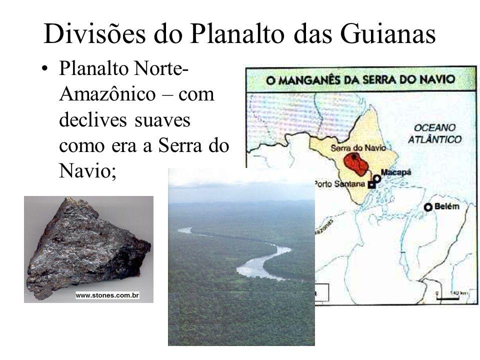 Planalto Brasileiro Origem geológica bastante diversificada; Dividido em: Planalto Central; Maranhão-Piauí; Nordestino; Serras e Planaltos do Leste Sudeste; Meridional Uruguaio Sul- riograndense;