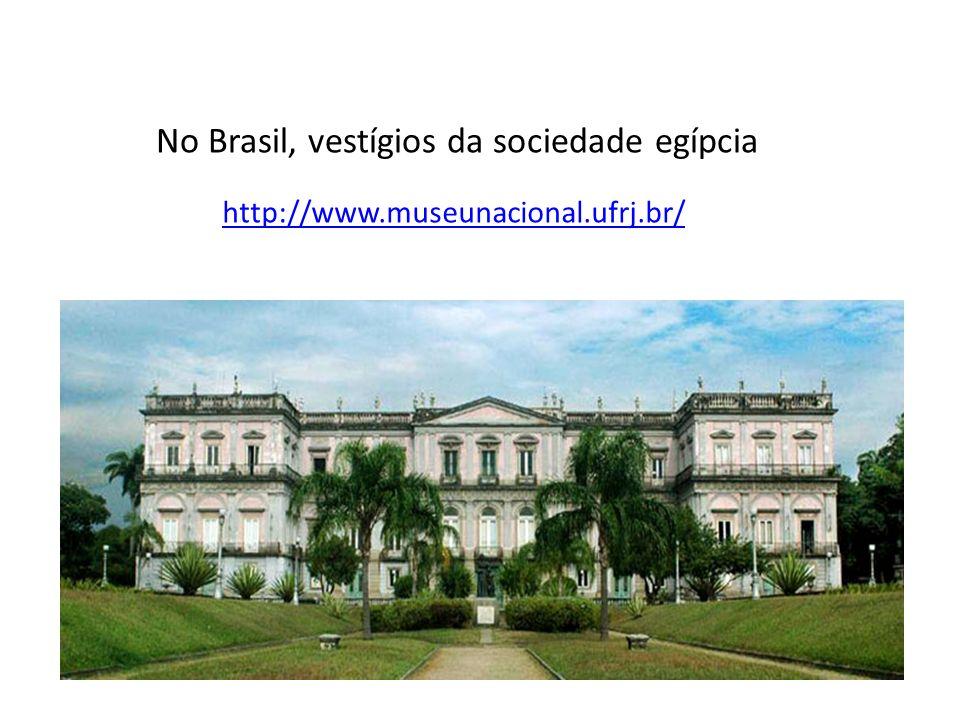 No Brasil, vestígios da sociedade egípcia http://www.museunacional.ufrj.br/