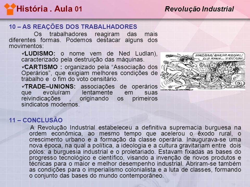 História. Aula 01 Revolução Industrial