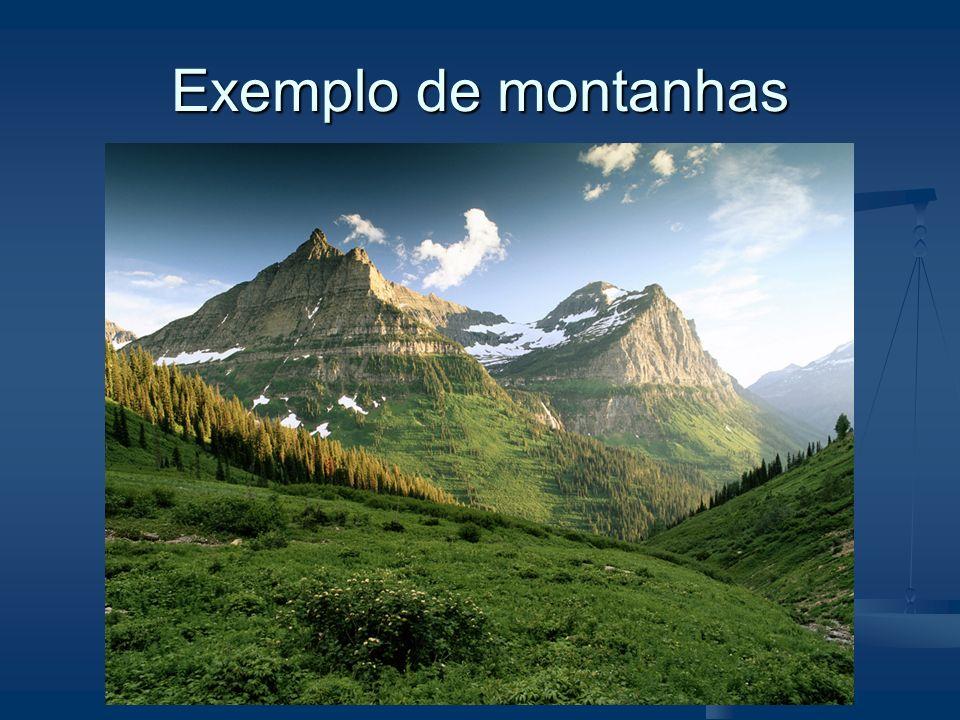 Exemplo de montanhas