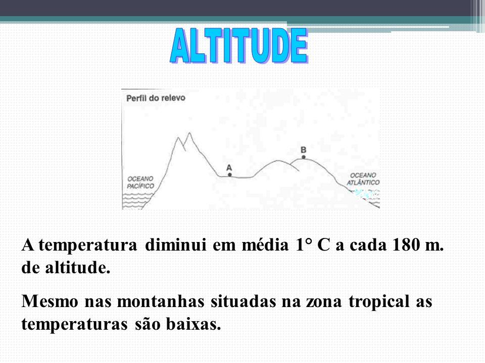 Quanto maior a latitude menor a temperatura e vice-versa.