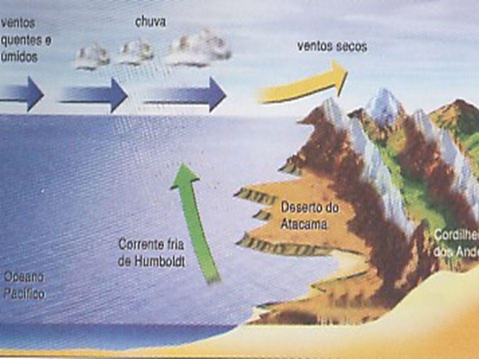 As correntes marítimas são massas de água que conforme a área de origem podem ser quentes ou frias. Elas influem na formação dos climas nas áreas em q