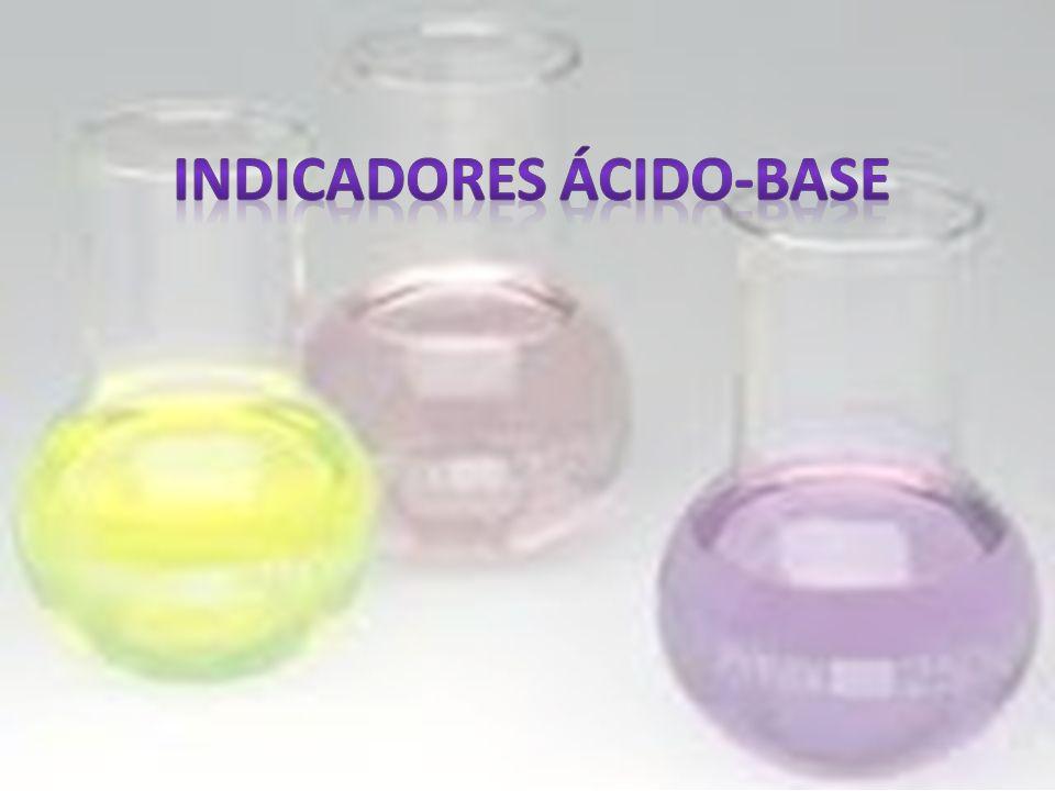 Definição Indicador ácido-base é um corante, solúvel em água, cuja cor depende do pH.