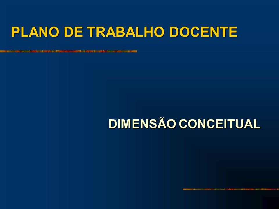 PLANO DE TRABALHO DOCENTE DIMENSÃO CONCEITUAL