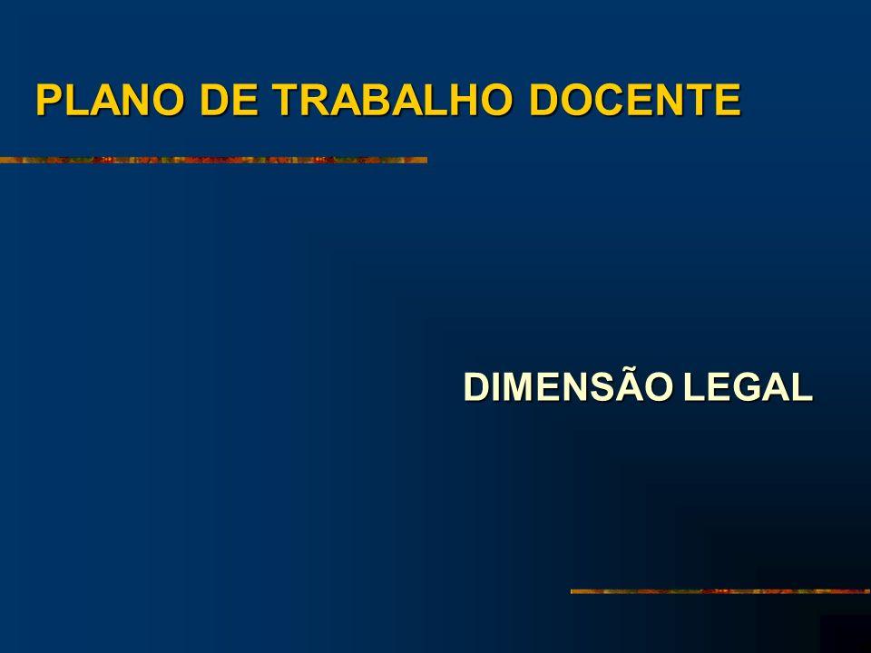 PLANO DE TRABALHO DOCENTE DIMENSÃO LEGAL
