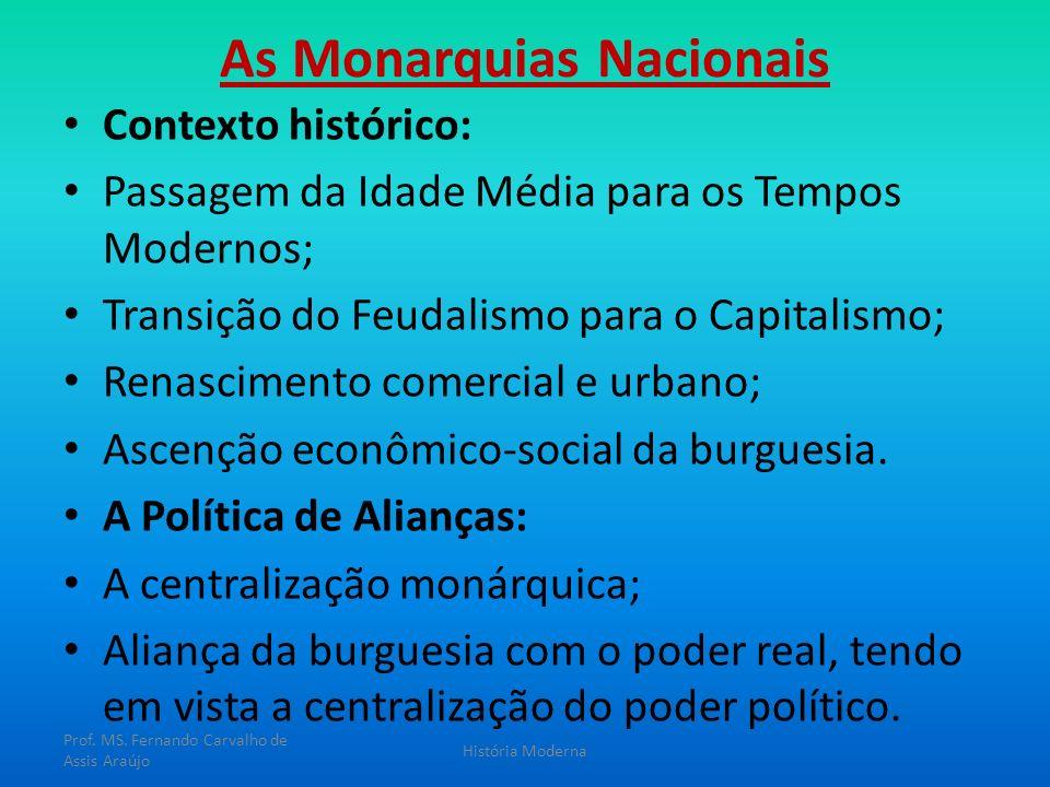As Monarquias Nacionais Contexto histórico: Passagem da Idade Média para os Tempos Modernos; Transição do Feudalismo para o Capitalismo; Renascimento