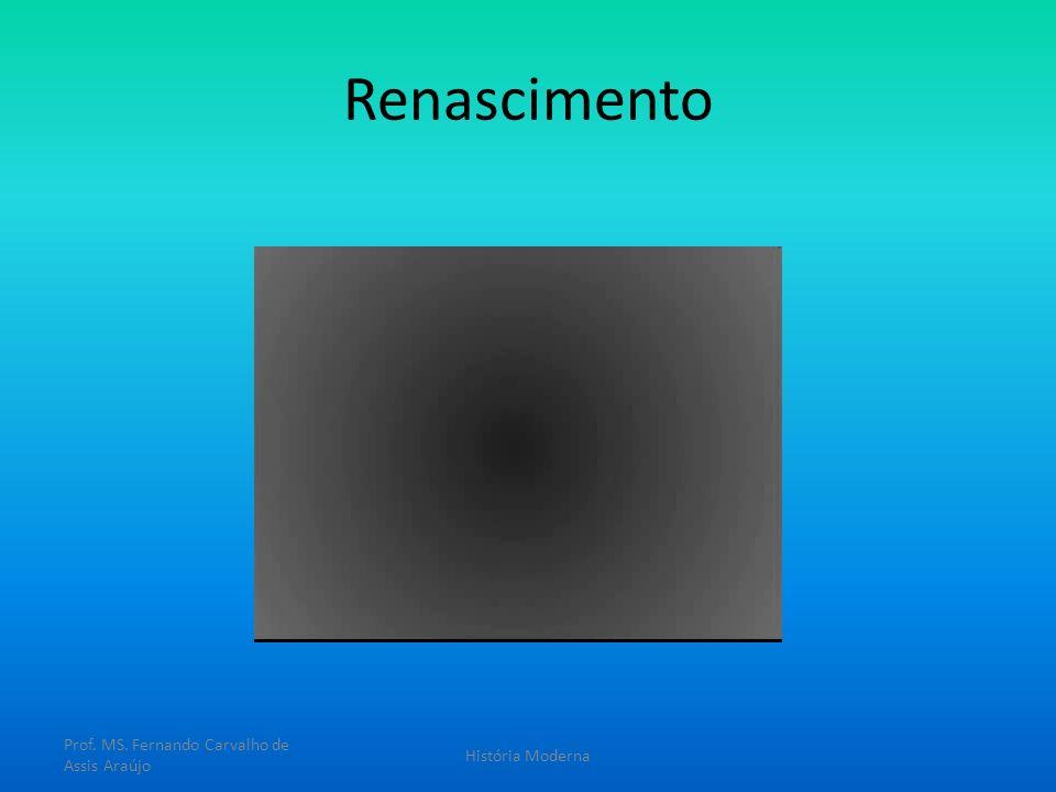 Renascimento Prof. MS. Fernando Carvalho de Assis Araújo História Moderna
