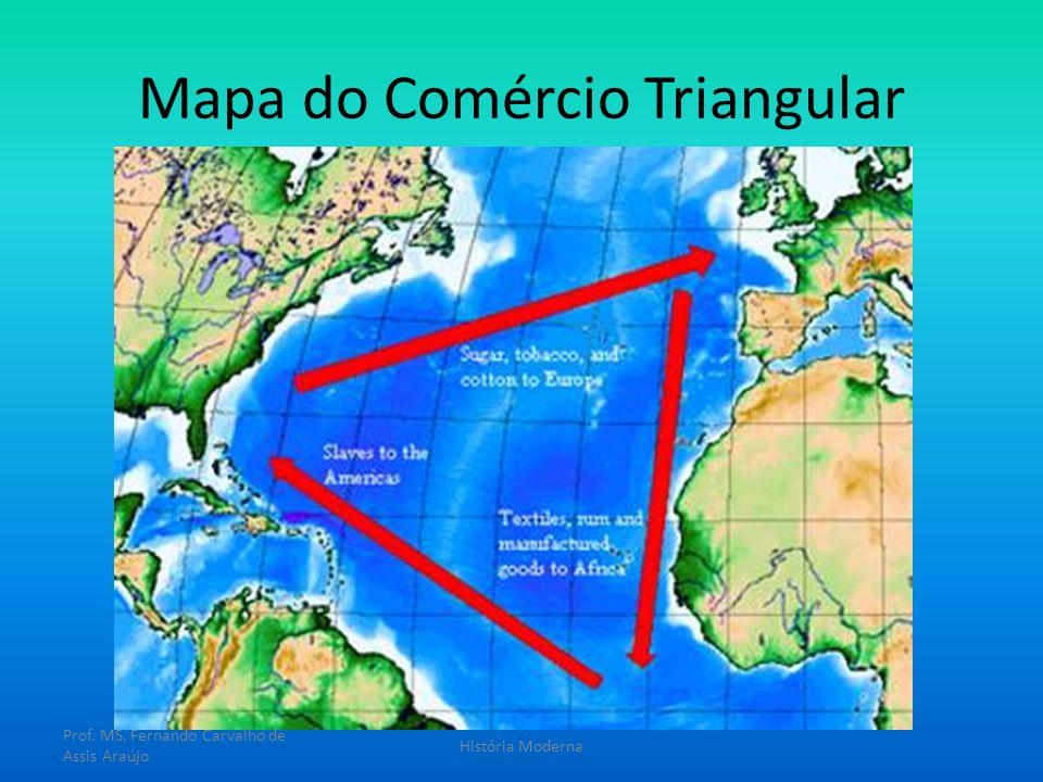 Mapa do Comércio Triangular Prof. MS. Fernando Carvalho de Assis Araújo História Moderna