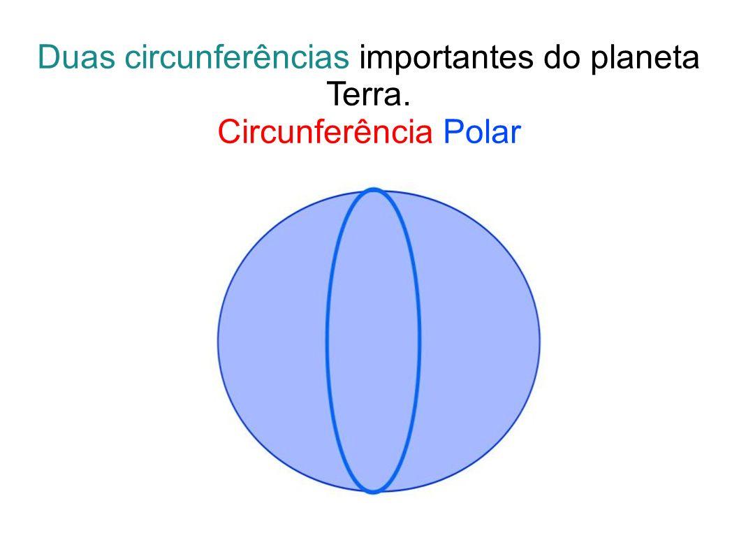 Duas circunferências importantes do planeta Terra. Circunferência Polar