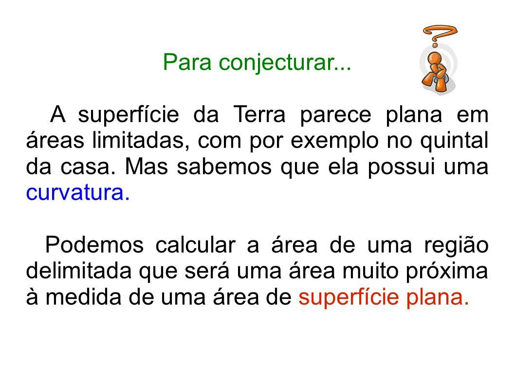 Para conjecturar... A superfície da Terra parece plana em áreas limitadas, com por exemplo no quintal da casa. Mas sabemos que ela possui uma curvatur