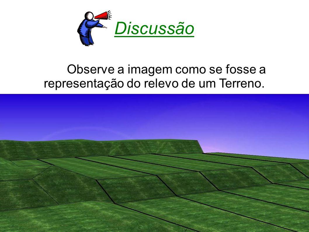 Discussão Observe a imagem como se fosse a representação do relevo de um Terreno.