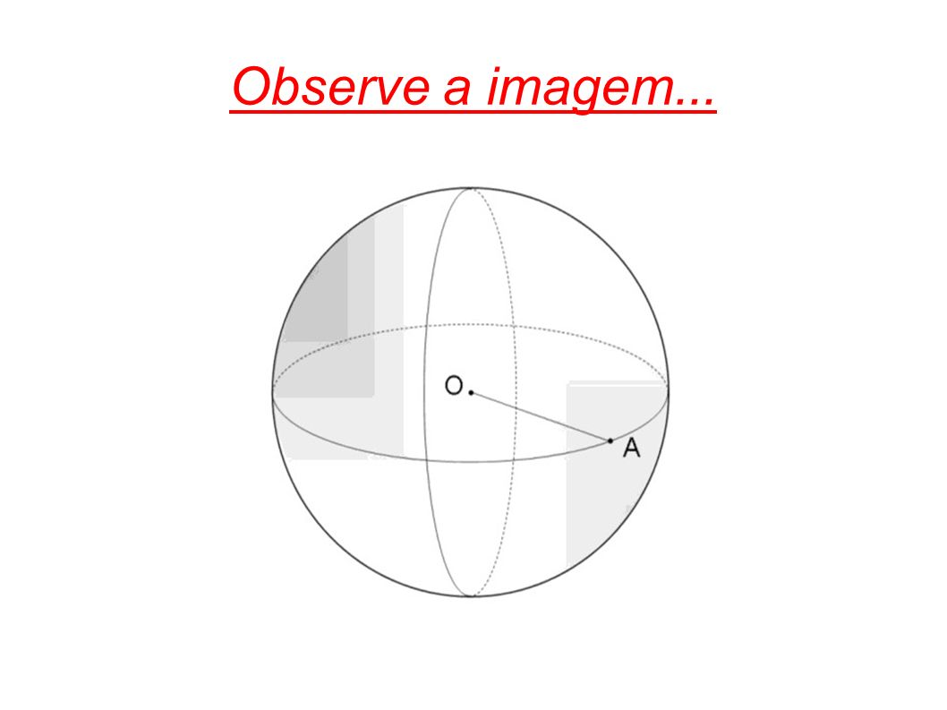 Circunferências máximas de uma esfera - são circunferências que tem o mesmo centro de uma esfera e como medida de raio a mesma que a medida do raio da esfera.