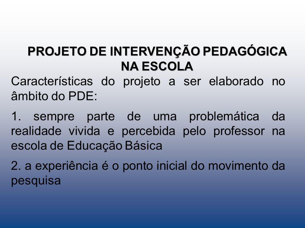 Estratégias de ação A proposta do projeto de intervenção será implementada no colégio Estadual Paulo - Leituras bibliográficas, pesquisas, participação em cursos....