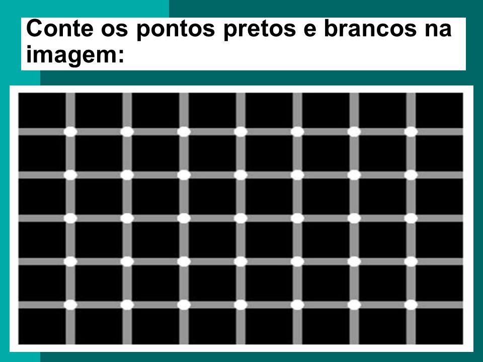 Conte os pontos pretos e brancos na imagem: Conte os pontos pretos na imagem: