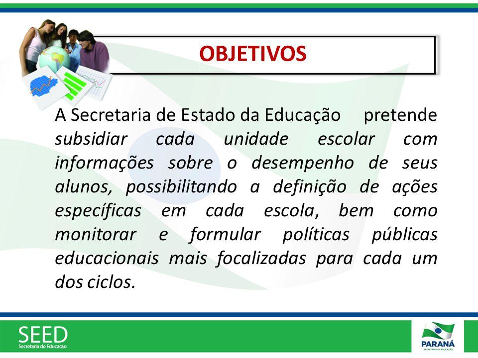 A Secretaria de Estado da Educação pretende subsidiar cada unidade escolar com informações sobre o desempenho de seus alunos, possibilitando a definiç