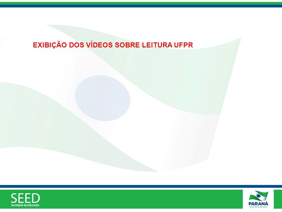 EXIBIÇÃO DOS VÍDEOS SOBRE LEITURA UFPR