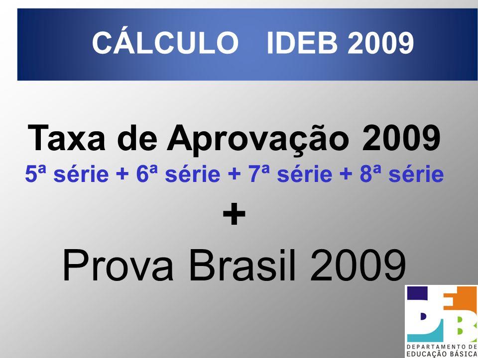 15 Taxa de Aprovação 2009 5ª série + 6ª série + 7ª série + 8ª série + Prova Brasil 2009 CÁLCULO IDEB 2009