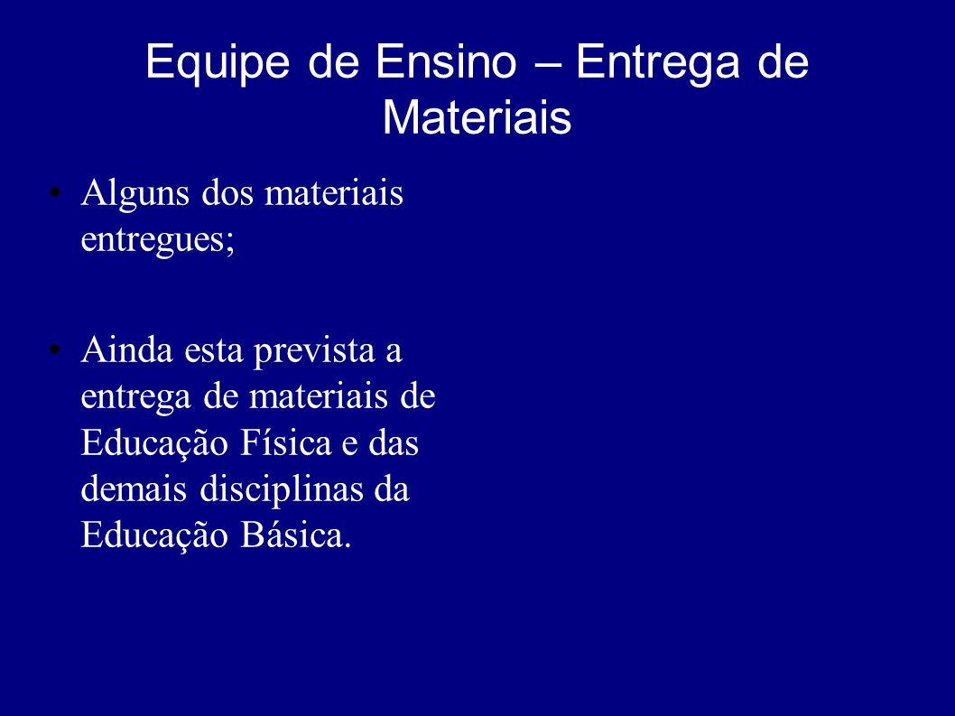 Equipe de Ensino – Entrega de Materiais Cod. MaterialValor (R$) 0123Col. Acervo de Temas Paranaenses106.761,81 0051Jogos de Xadrez – Conju. c/ 20 jg.9