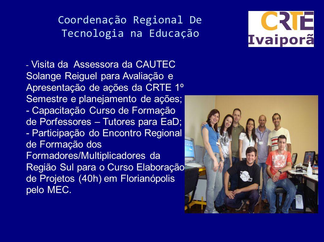 Coordenação Regional De Tecnologia na Educação Auxílio no recadastramento do/a funcionário público no site do portal do Servidor do Paraná; Assessoria
