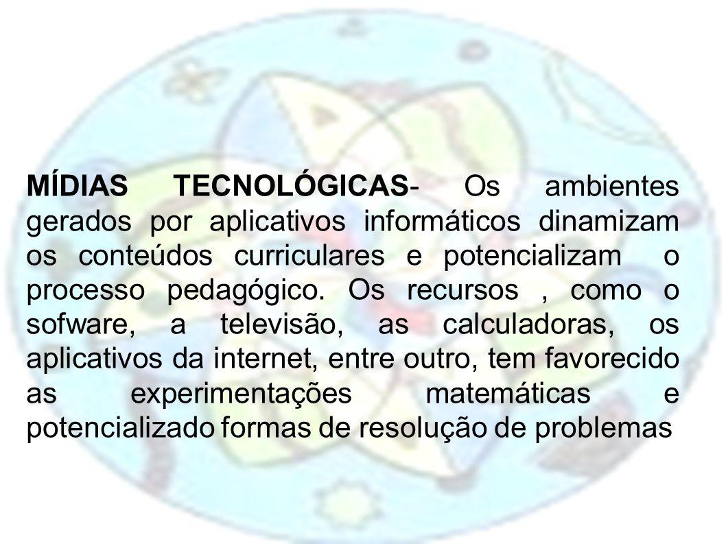 MÍDIAS TECNOLÓGICAS- Os ambientes gerados por aplicativos informáticos dinamizam os conteúdos curriculares e potencializam o processo pedagógico. Os r