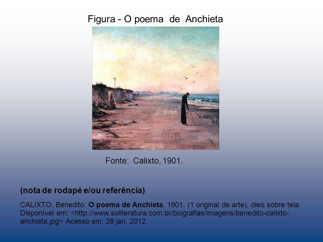 Figura - O poema de Anchieta Fonte: Calixto, 1901. CALIXTO, Benedito. O poema de Anchieta. 1901. óleo sobre tela. Disponível em: Acesso em: 28 jan. 20